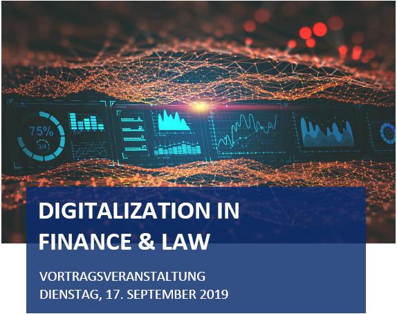 Digitalization in Finance & Law - Vortragsveranstaltung
